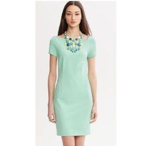 Banana Republic mint green ponte square-neck dress